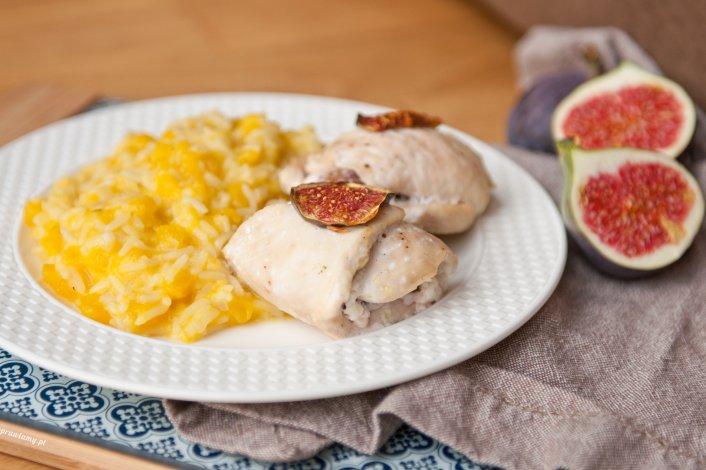 Pierś z kurczaka z figą i serem kozim